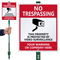 Customizable Property Protected By Video Surveillance Sign Kit