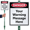 Custom Warning Sign & Stake Kit
