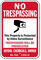 Customized Wisconsin No Trespassing Sign