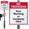 Custom No Trespassing Lawnboss™ Sign & Stake Kit