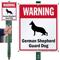 Warning German Shepherd Guard Dog LawnBoss™ Signs