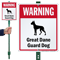 Warning Great Dane Guard Dog LawnBoss™ Signs