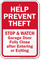 Help Prevent Theft Stop Watch Anti Theft Sign