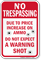 Humorous No Trespassing Sign