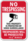 Indiana Trespassers Will Be Prosecuted Sign