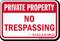 North Carolina Private Property Sign