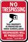 North Carolina Trespassers Will Be Prosecuted Sign