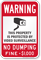 No Dumping Fine Imposed Sign (with Graphic)