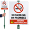 No Smoking on Premises Video Surveillance LawnBoss Sign