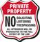 No Soliciting Loitering Trespassing Shield Sign