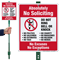 No Soliciting No Excuses No Exceptions LawnBoss Sign