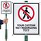 No Trespassing Custom LawnBoss Sign & Stake Kit