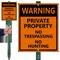 No Trespassing No Hunting Sign