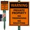 No Trespassing No Soliciting Sign
