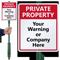 Custom Private Property Lawnboss™ Sign & Stake Kit