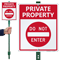 Private Property Do Not Enter Sign