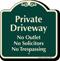 Private Driveway, No Solicitors Signature Sign