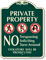 Private Property No Trespassing Soliciting Sign