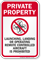 Private Property, Operating Drones Prohibited Sign