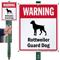 Warning Rottweiler Guard Dog LawnBoss™ Signs