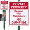 Respect Your Neighbors No Dumping Lawnboss Sign Kit