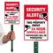 Security Alert 24 Hour Surveillance LawnBoss Sign