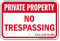 Tennessee Private Property Sign