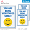 Smile You Are Being Videotaped Security Label Set
