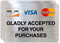 Visa MasterCard Discover Gladly Accepted Label