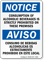 Bilingual Alcoholic Beverages Prohibited Sign