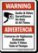 Audio & Video Surveillance On Duty Bilingual Sign