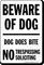 Beware Of Dog No Trespassing Soliciting Sign