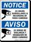 Bilingual 24 Hours Surveillance & Recording Sign