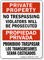 Bilingual Private Property No Trespassing Violators Prosecuted Sign
