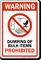 Dumping Of Bulk Items Prohibited Warning Sign