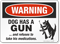 Funny Beware Of Dog Warning Sign