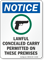 Lawful Concealed Carry Permitted OSHA Notice Sign