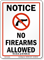 North Carolina Firearms And Weapons Law Sign