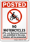 No Motorcycles, ATVs and Motorized Vehicles Sign