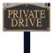 Private Drive Statement Plaque