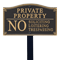 No Soliciting Loitering Statement Lawn Plaque