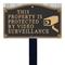 Video Surveillance Statement Lawn Plaque